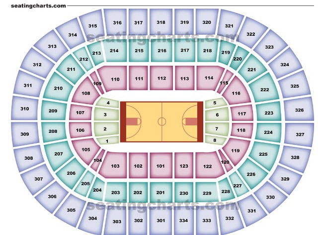 Portland Trail Blazers Seating Chart for Rose Garden